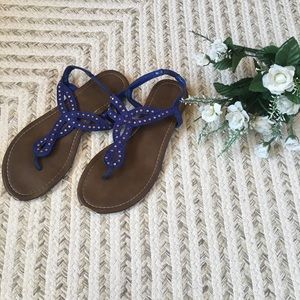 American Eagle Sling Back Thong Sandals Size 7 1/2